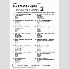 English World Present Simple