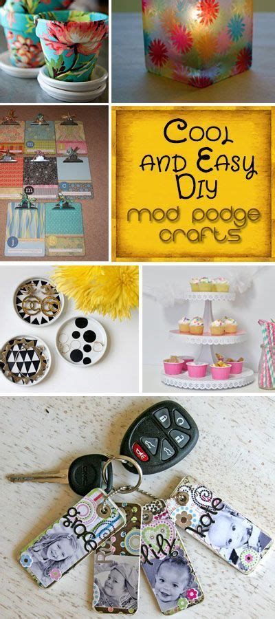 cool and easy diy mod podge crafts these are so pretty