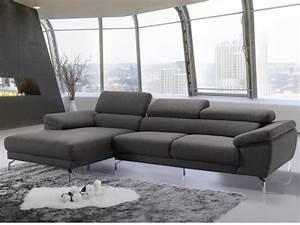 canape d39angle en tissu waterproof gris gretel With tapis design avec canapé mousse haute résilience