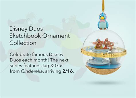 jaq gus disney duos sketchbook ornament coming