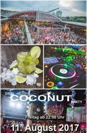 coconut partyfreitag  august   koeln