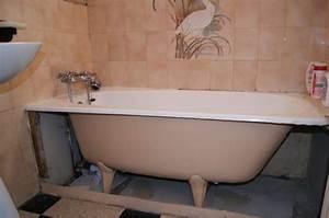 changer une baignoire par une douche a l39italienne 1 youtube With peinture pour baignoire en fonte