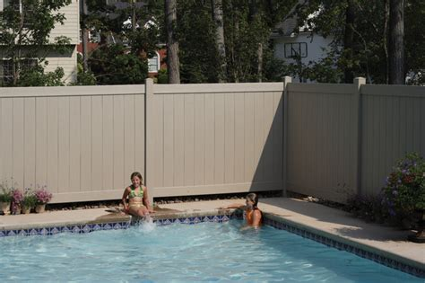 privacy fence for pool bufftech certagrain chesterfield clay vinyl privacy fence contemporary pool portland by