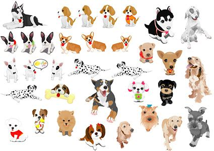 a variety of pet vector material download free vector
