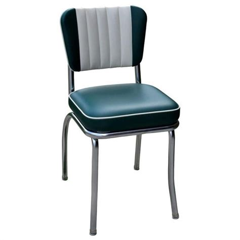 richardson seating retro 1950s diner dining chair in green