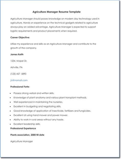 agricultural cv  resume templates  samples