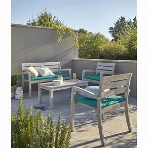 Salon De Jardin En Rotin Leroy Merlin : salon de jardin portofino bois naturel 1 table 2 ~ Premium-room.com Idées de Décoration