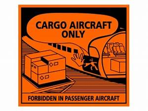 handling labels cargo aircraft only With cargo aircraft only label