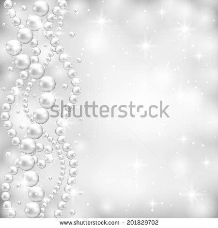 gray background pearl border stock vector