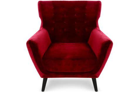 fauteuil scandinave depalma velours rouge fauteuil