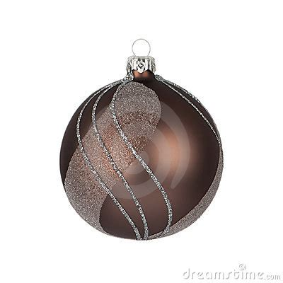 brown christmas bauble royalty free stock photo image