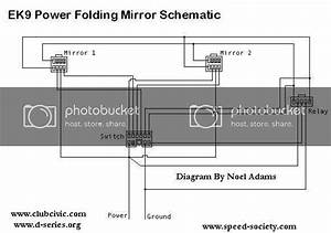 Ek Power Folding Mirrors Schematic   - Honda-tech