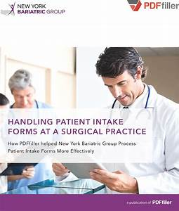 Handling Patient Intake Forms At A Surgical Practice