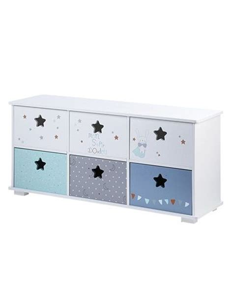 meuble de rangement pour chambre bébé meuble de rangement 6 bacs doudou blanc vertbaudet