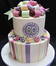 Woman 60th Birthday Cake