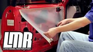 Mustang Door Panel Moisture  Vapor Barrier Install