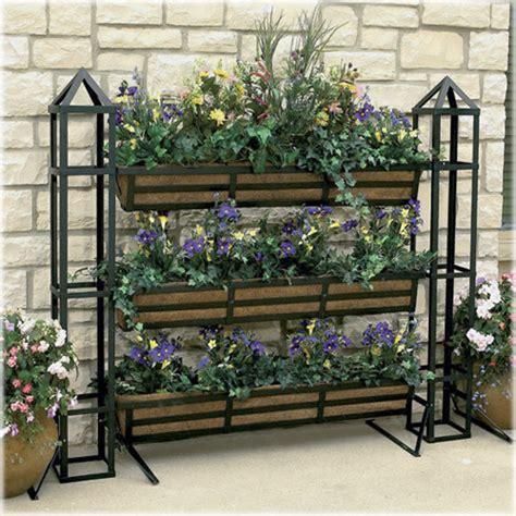 vertical planter set contemporary outdoor pots and