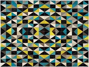 Tapis Jaune Et Bleu. tapis bleu et jaune esprit home split 200x300 ...