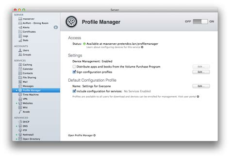 Manager Profile Sle how to remove a profile on a mac from profile manager with
