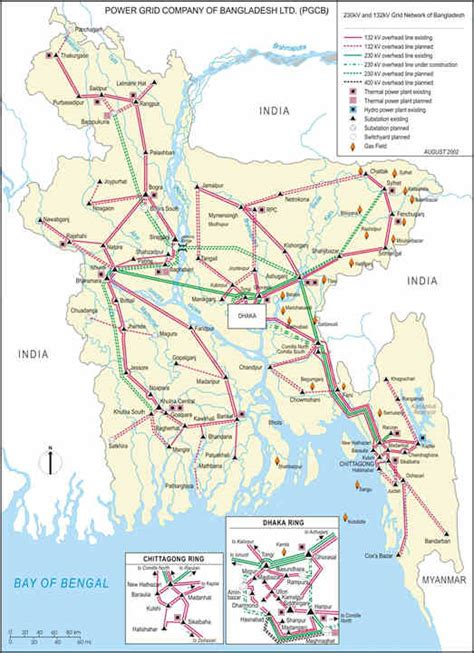 Map of Bangladesh Electricity Grid - Bangladesh - National ...