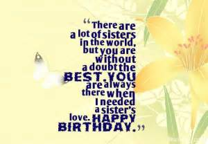 Happy Birthday Wish for a Sister