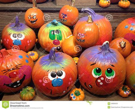 decorated pumpkins photos pumpkins decorated for halloween stock photos image 34809533