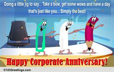 corporate anniversary wishes   work  ecards