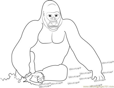 King Kong Gorilla Coloring Page Free