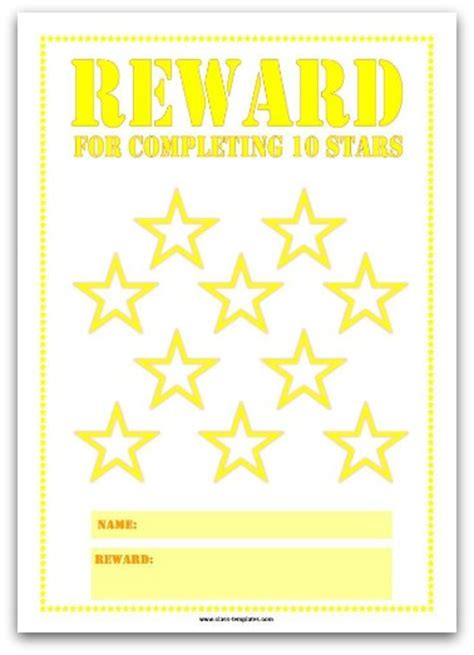 colourful reward charts  kids