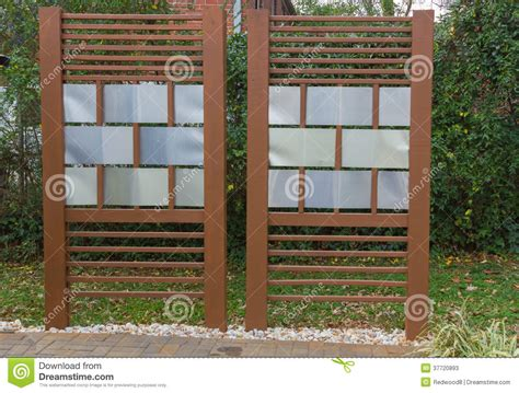 diy patio privacy fence stock image image  barrier