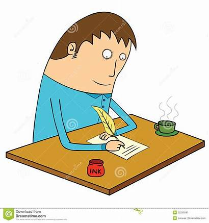 Letter Writing Clipart Write Illustration Person Clipground