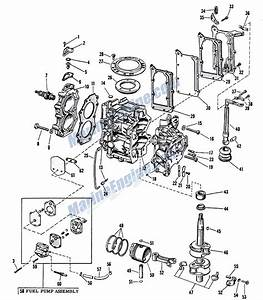 Johnson Powerhead Group Parts For 1963 5 5hp Cdl
