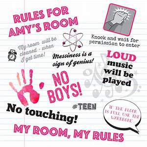 teenager personalised bedroom rules by applemint designs With 3 basic rules in teenage bedroom ideas