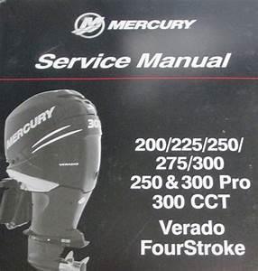 Mercury Marine 300 Hp Verado  4  Support Material Parts