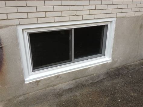 replace  basement window   metal frame