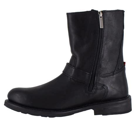 safest motorcycle boots mens harley davidson karl leather side zip buckle