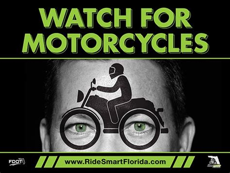 motorcycles yard sign ride smart florida