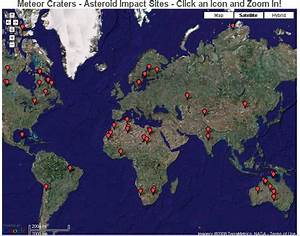 Asteroid Impact Sites Map - Pics about space