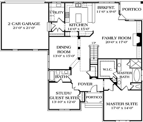 House Plan 97088 European Style with 2991 Sq Ft 4 Bed