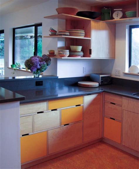 plywood kitchen design home dzine kitchen plywood kitchen designs 1562