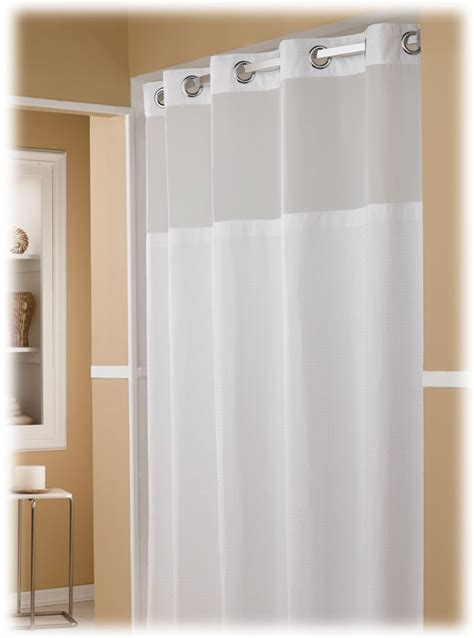 the major hookless hotel shower curtains 12