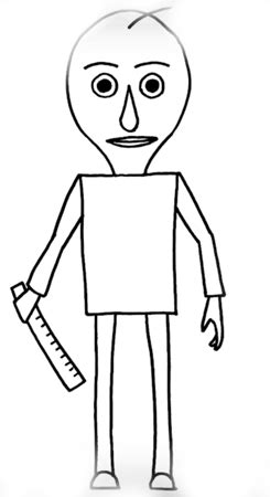 baldy coloring pages    print