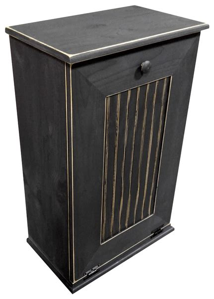 wooden trash cans for kitchen large kitchen tilt out wood trash can handmade in pine 11