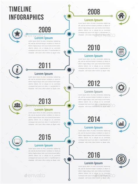 vertical timeline infographics template psd vector eps