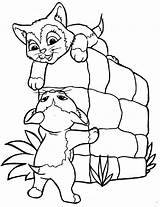 Coloring Pages Kitten sketch template