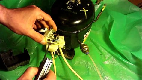 how to wire a fridge compressor