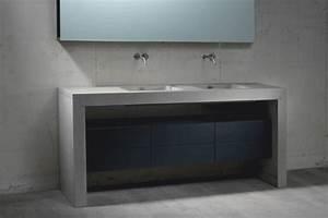 Waschtische Für Badezimmer : kreis design beton im badezimmer faszinierend modern ~ Michelbontemps.com Haus und Dekorationen