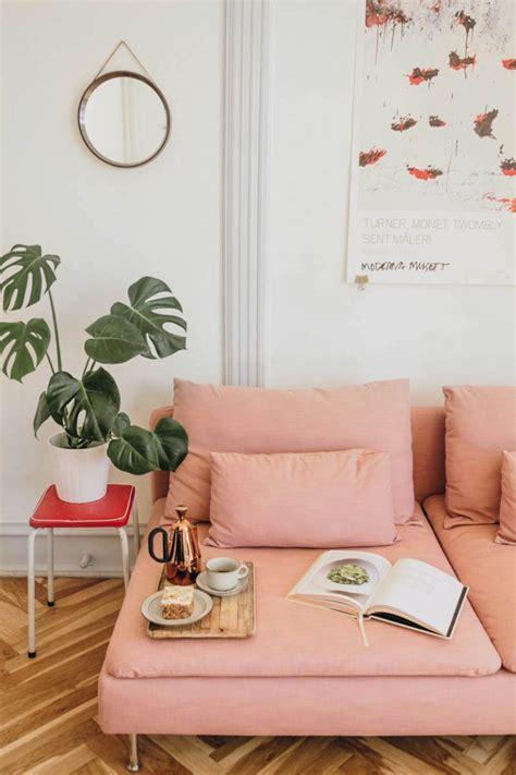ikea soederhamn pink living room   ikea sofa
