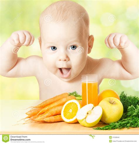 Baby Vitamin Fruit Juice Strong Child Healthy Meal Kids