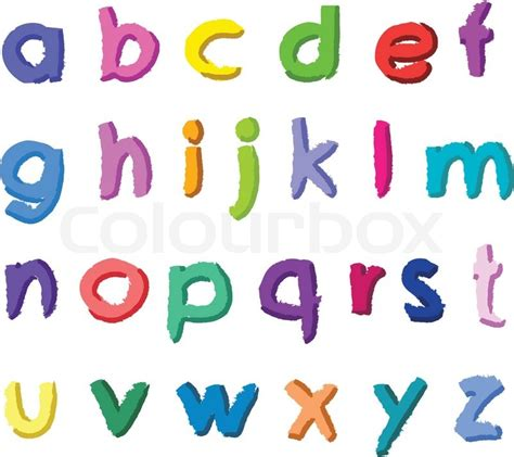 of all alphabet letters stock vector image 32655280 colorful small vector letters stock vector